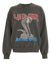 Cobra Sweatshirt, CHARCOAL/RED/BLUE, hi-res