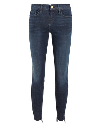 Le Skinny De Jeanne Raw Stagger Jeans, BLUE DENIM, hi-res