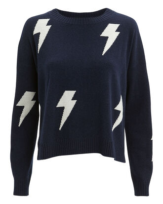 Presley Lightning Sweater, NAVY/WHITE, hi-res