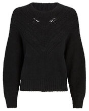 Arresi Cable Knit Sweater, BLACK, hi-res