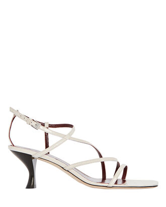 Gita Strappy Leather Sandals, WHITE, hi-res