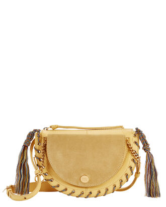 Kriss Small Yellow Shoulder Bag, YELLOW, hi-res