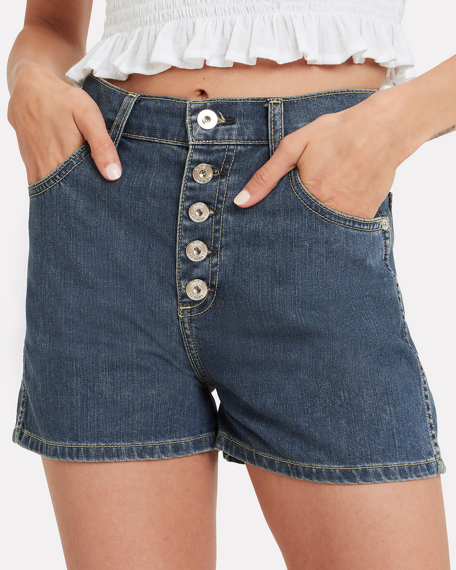 Leo Tribeca Denim Shorts, MEDIUM WASH DENIM, hi-res