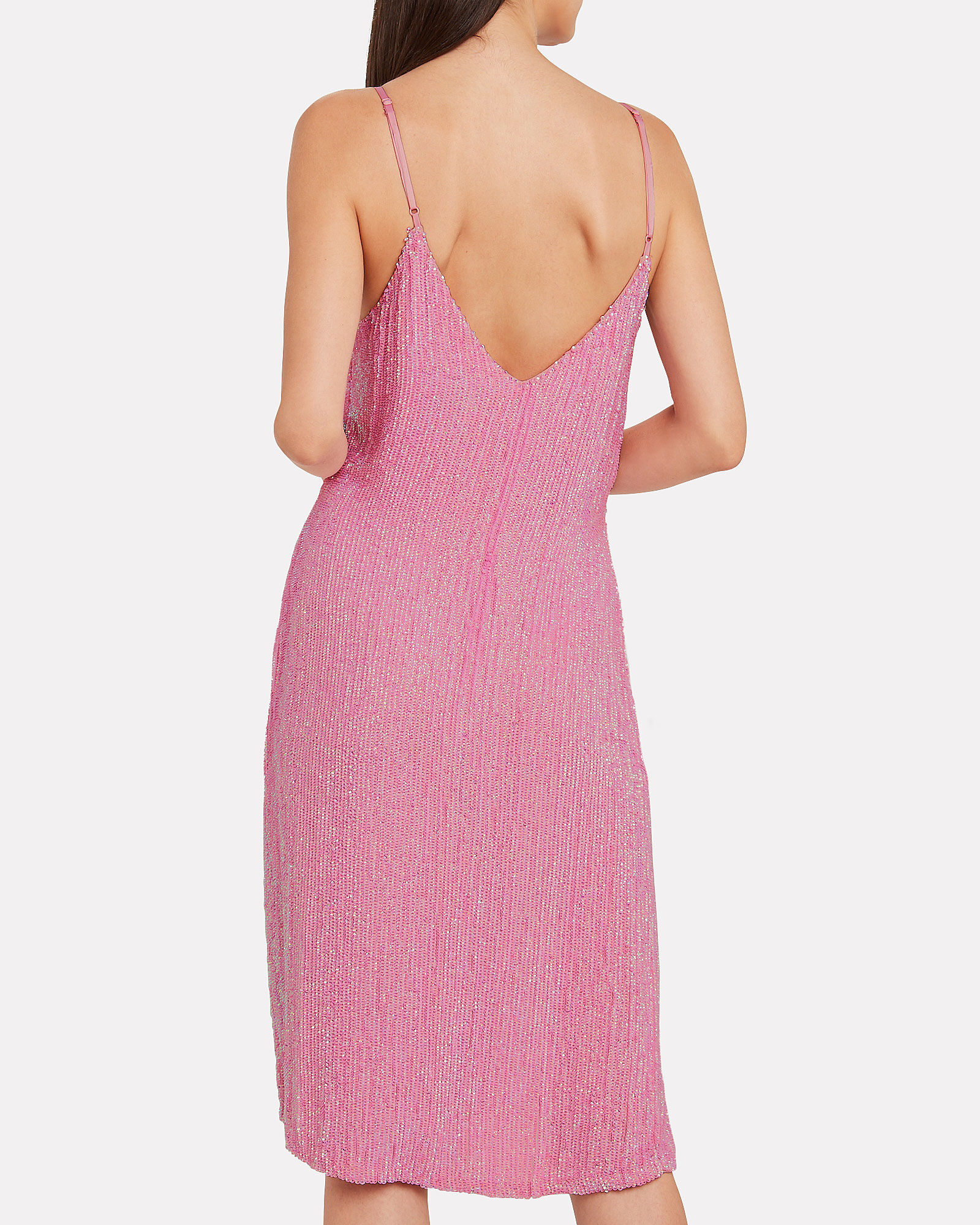 Denisa Sequin Slip Dress, PINK, hi-res