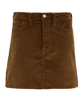 Corduroy Mini Skirt, BROWN, hi-res
