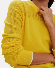 Yorke Cashmere Sweater, YELLOW, hi-res