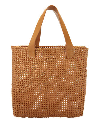 Vinyl Large Shopper Tote, BROWN, hi-res