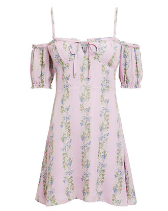 Lily Floral Mini Dress, LILAC/FLORAL, hi-res
