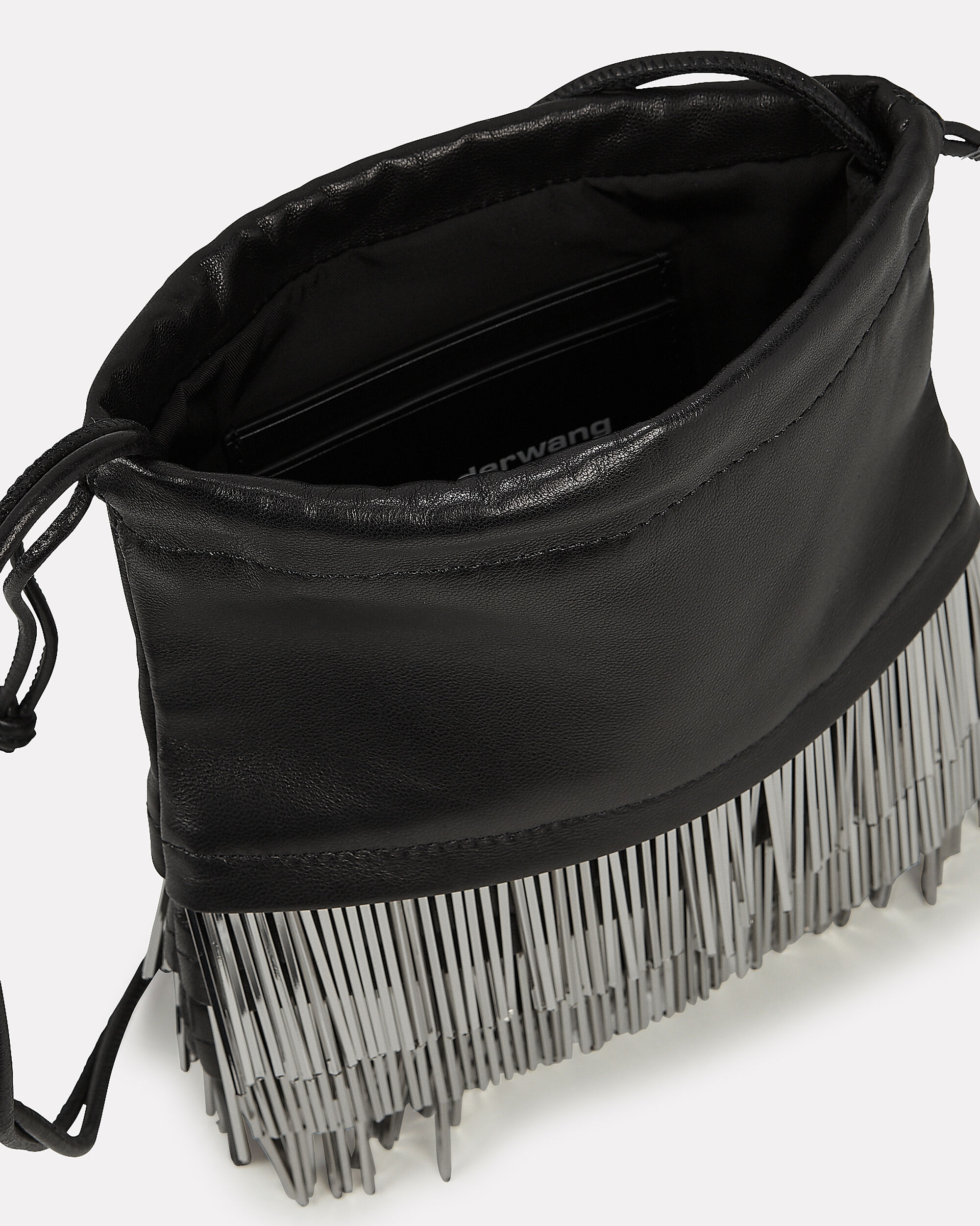 Ryan Metal Fringe Bag, BLACK, hi-res