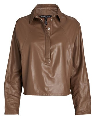 Madi Leather Tunic Top, , hi-res