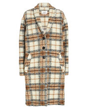 Gabriel Plaid Flannel Wool-Blend Coat, , hi-res