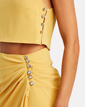 Fernanda Sleeveless Crop Top, YELLOW, hi-res
