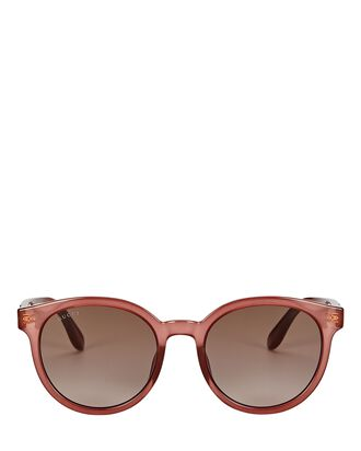 Rounded Cat Eye Sunglasses, PINK, hi-res