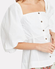 Puff Sleeve Top, WHITE, hi-res