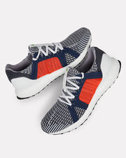 Ultra Boost Knit Sneakers, NAVY/ORANGE/WHITE, hi-res