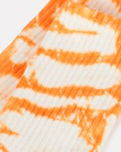 90s Tie-Dye Sport Socks, ORANGE, hi-res