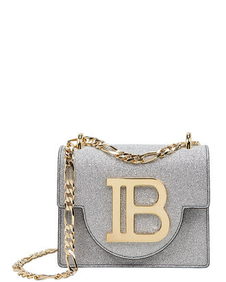 Glitter Leather 18 BBag, SILVER, hi-res