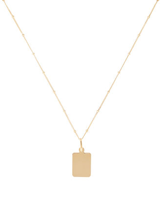 Mini Rectangle Pendant Necklace, , hi-res