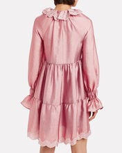 Daki Blouson Sleeve Mini Dress, ROSE, hi-res