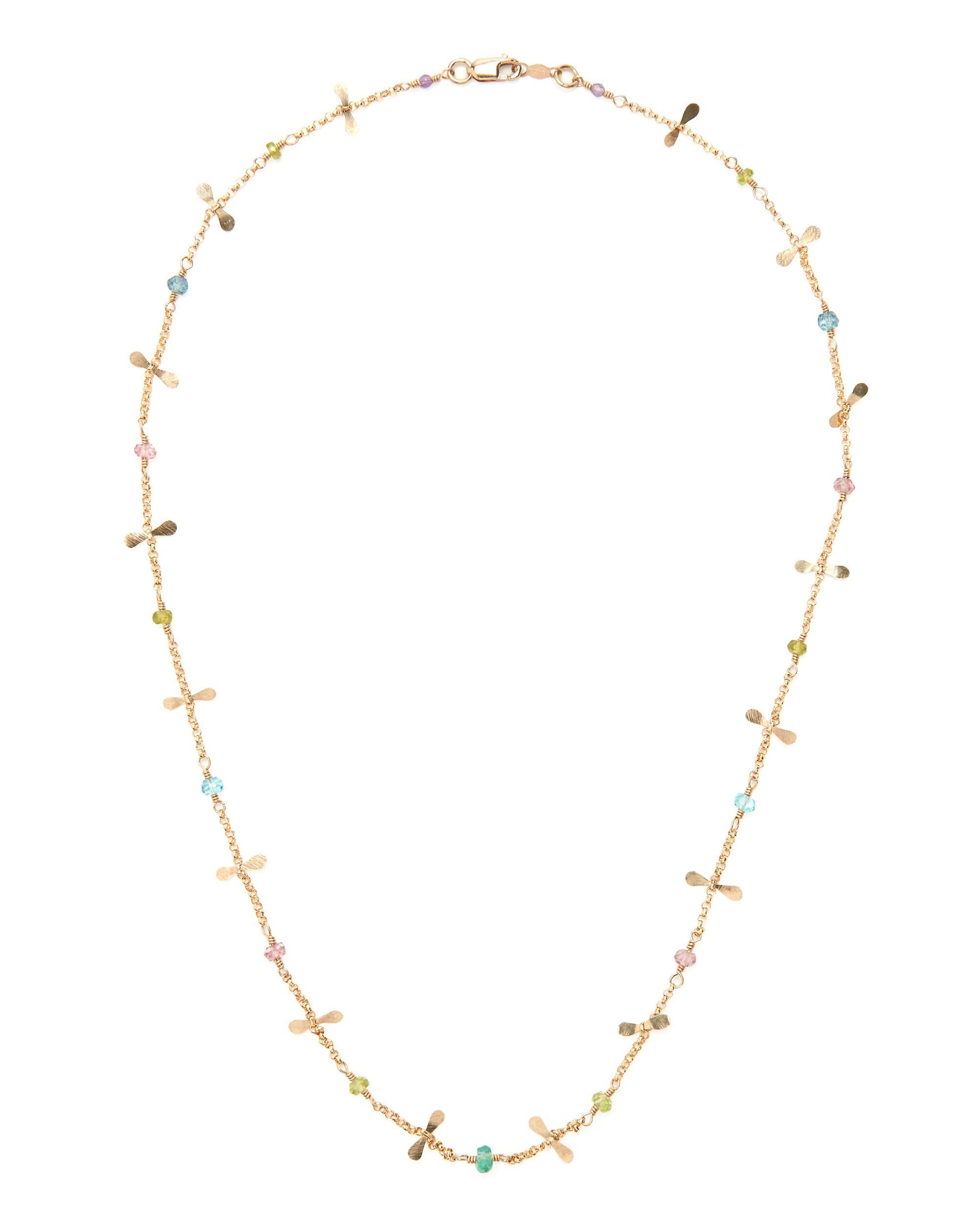 Mixed Stone Necklace, MULTI, hi-res