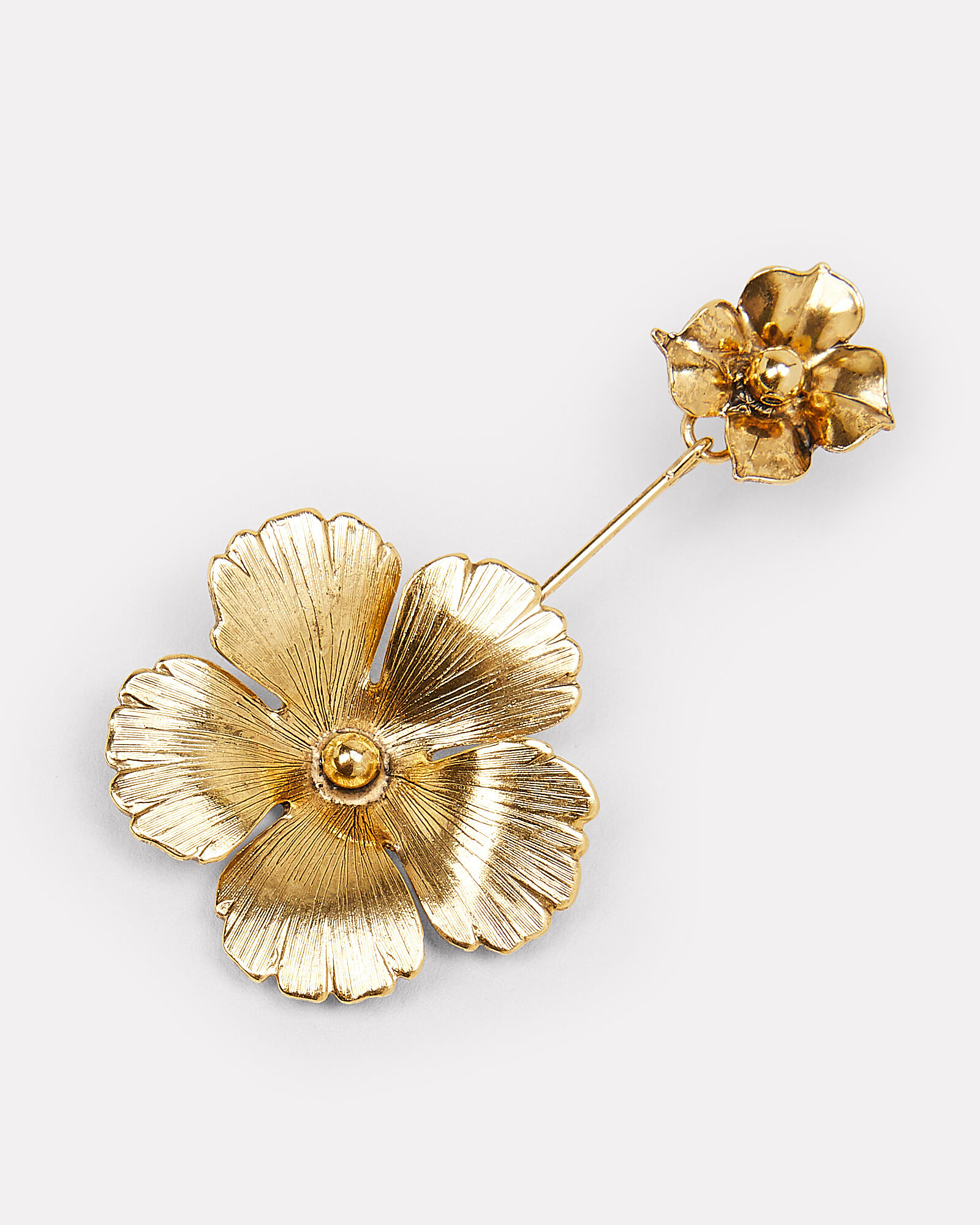 Kalina Flower Drop Earrings, GOLD, hi-res