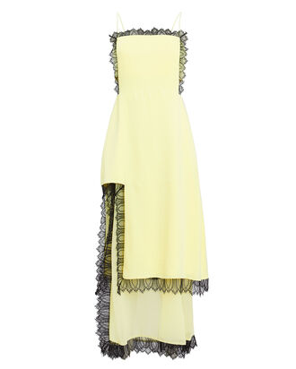 Square Cut-Out Slip Dress, PALE YELLOW, hi-res