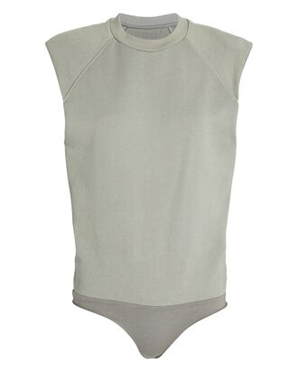 Channing Padded Shoulder Bodysuit, PALE OLIVE, hi-res