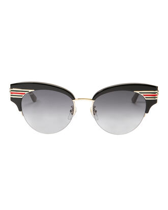 Vintage Signature Stripe Sunglasses, BLACK, hi-res