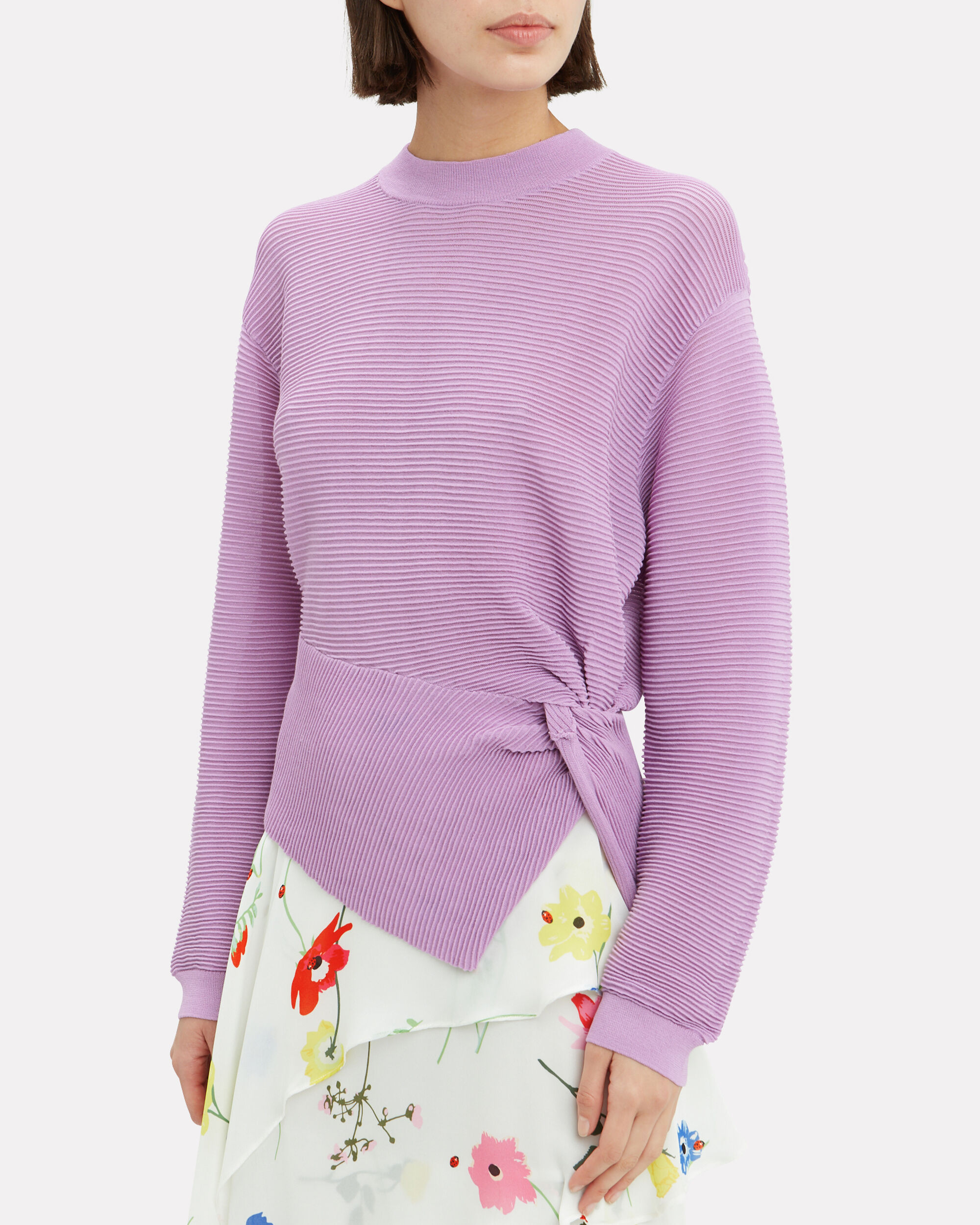 Twisted Lilac Sweater, LILAC, hi-res