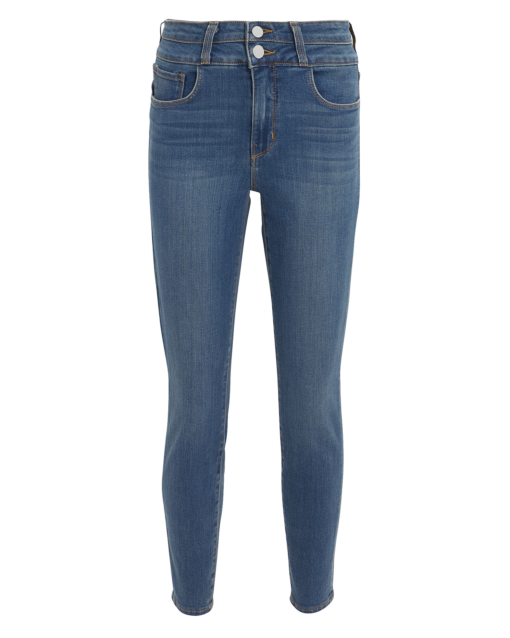 Peyton Double Waistband Skinny Jeans, DARK BLUE DENIM, hi-res