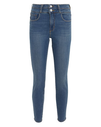 Petyon Double Waistband Skinny Jeans, DARK BLUE DENIM, hi-res