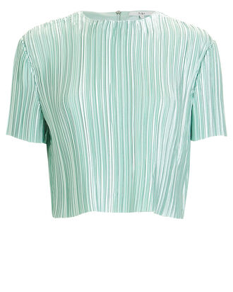 Pleated Crop Top, MINT, hi-res