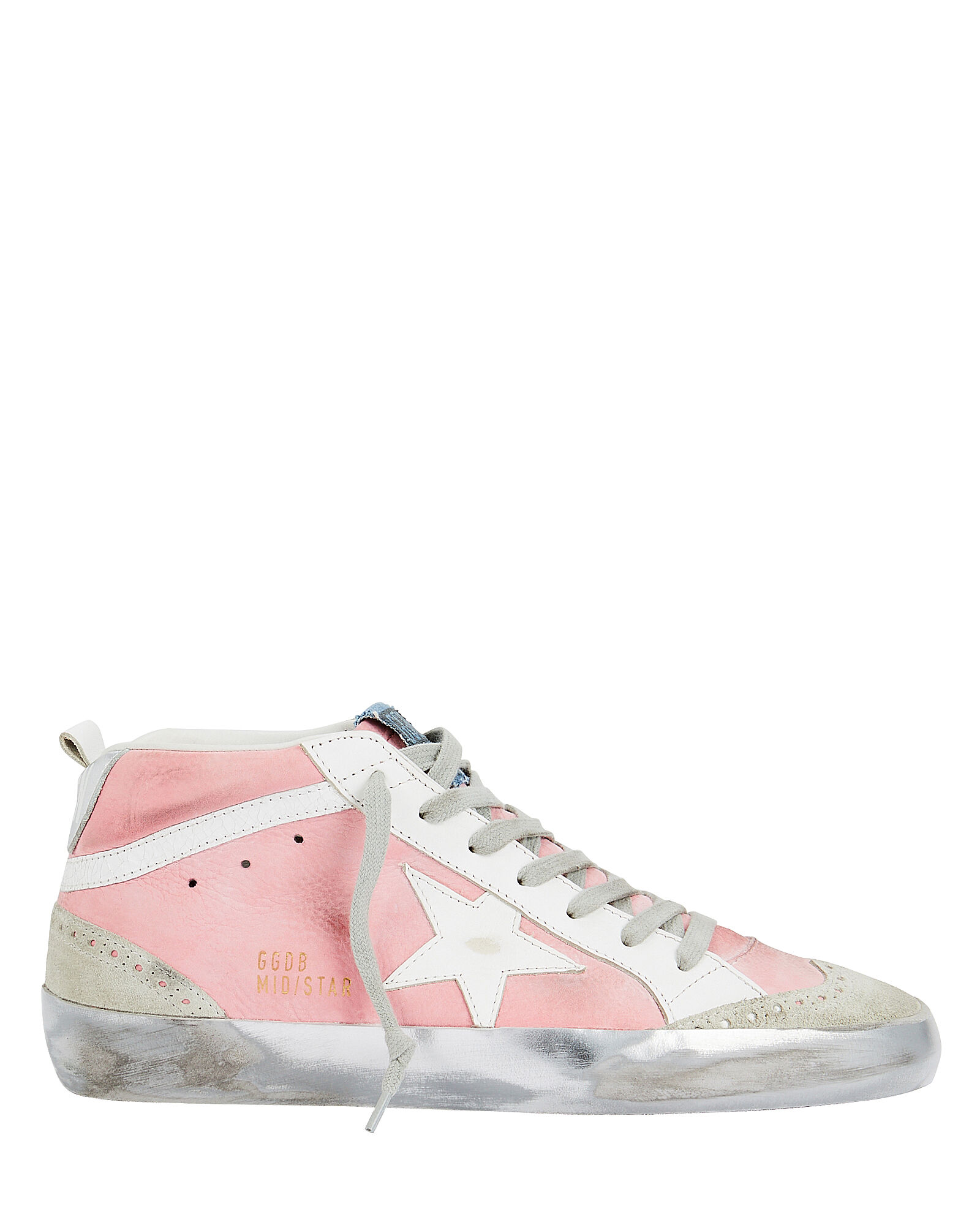 909061b1ba5309 Mid Star Blush Suede Sneakers