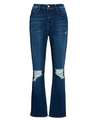Shane Distressed Slouchy Straight Jeans, DENIM, hi-res