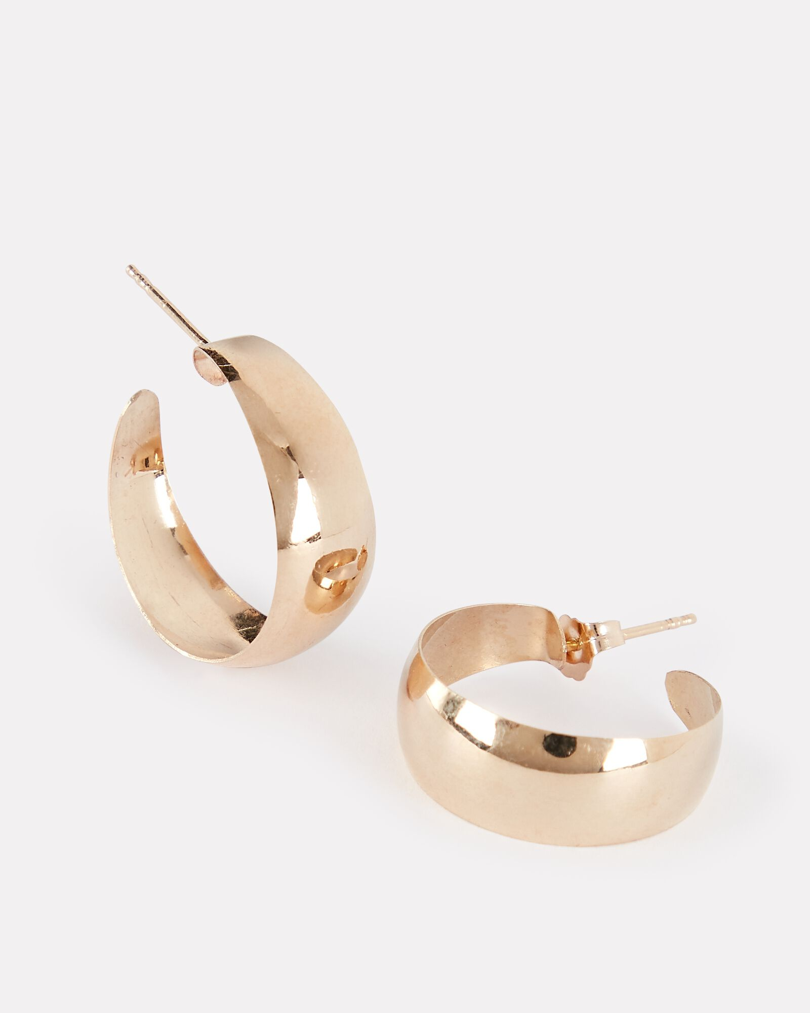 Baby Dome Hoop Earrings, GOLD, hi-res