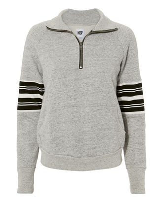 Half Zip Sweatshirt, GREY, hi-res