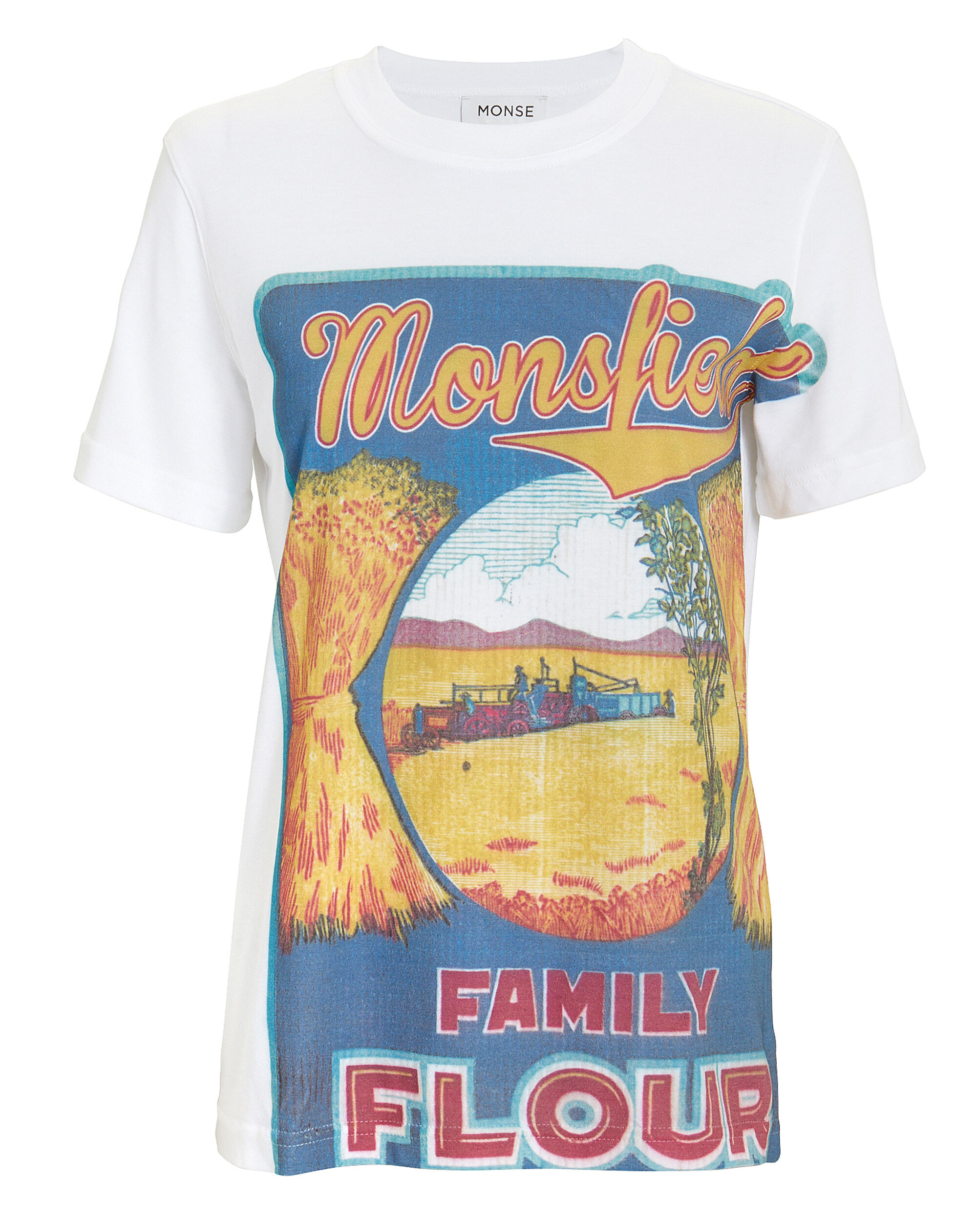 Monsfield Graphic Tee, WHITE, hi-res