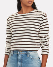 Distressed Breton Stripe T-Shirt, BLK/WHT, hi-res