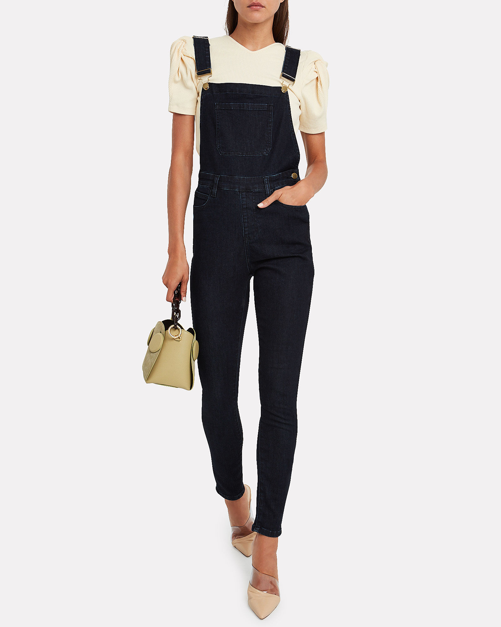 High-Rise Skinny Overalls, INDIGO DENIM WASH, hi-res