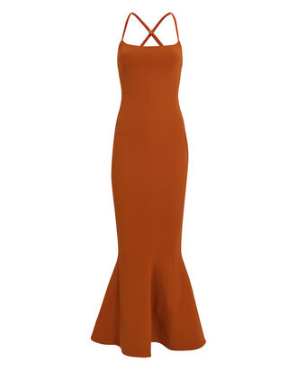 Verla Crepe Flared Dress, SIENNA, hi-res