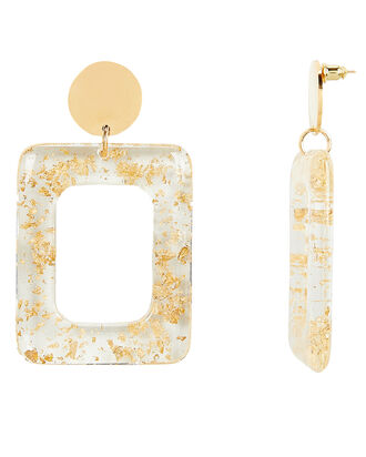 Milan Rectangle Drop Earrings, MULTI, hi-res