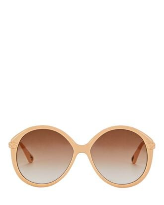 Oversized Round Sunglasses, PINK, hi-res