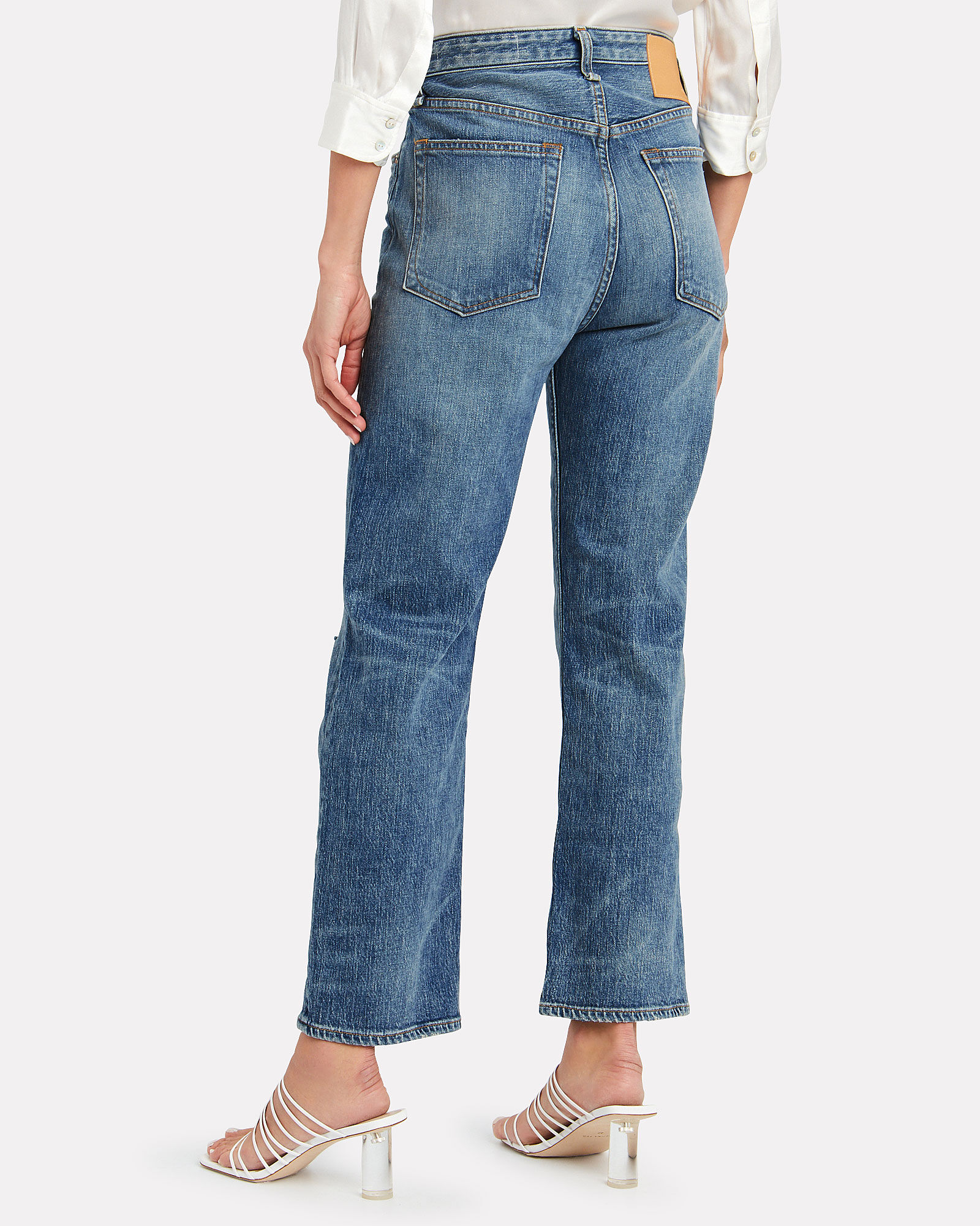 Maya High-Rise Straight Jeans, DENIM-LT, hi-res
