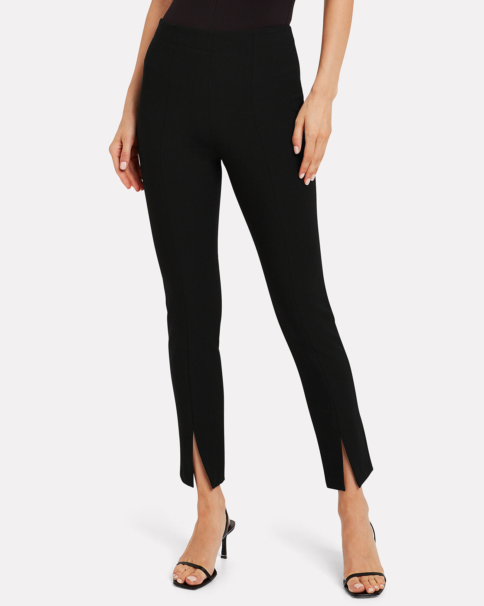 Anson Tailored Crepe Trousers, BLACK, hi-res