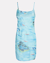 Belle Printed Sleeveless Mini Dress, BLUE-MED, hi-res