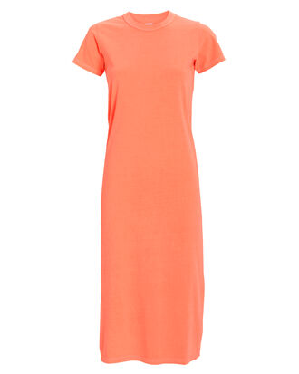 Leah Jersey T-Shirt Dress, NEON CORAL, hi-res