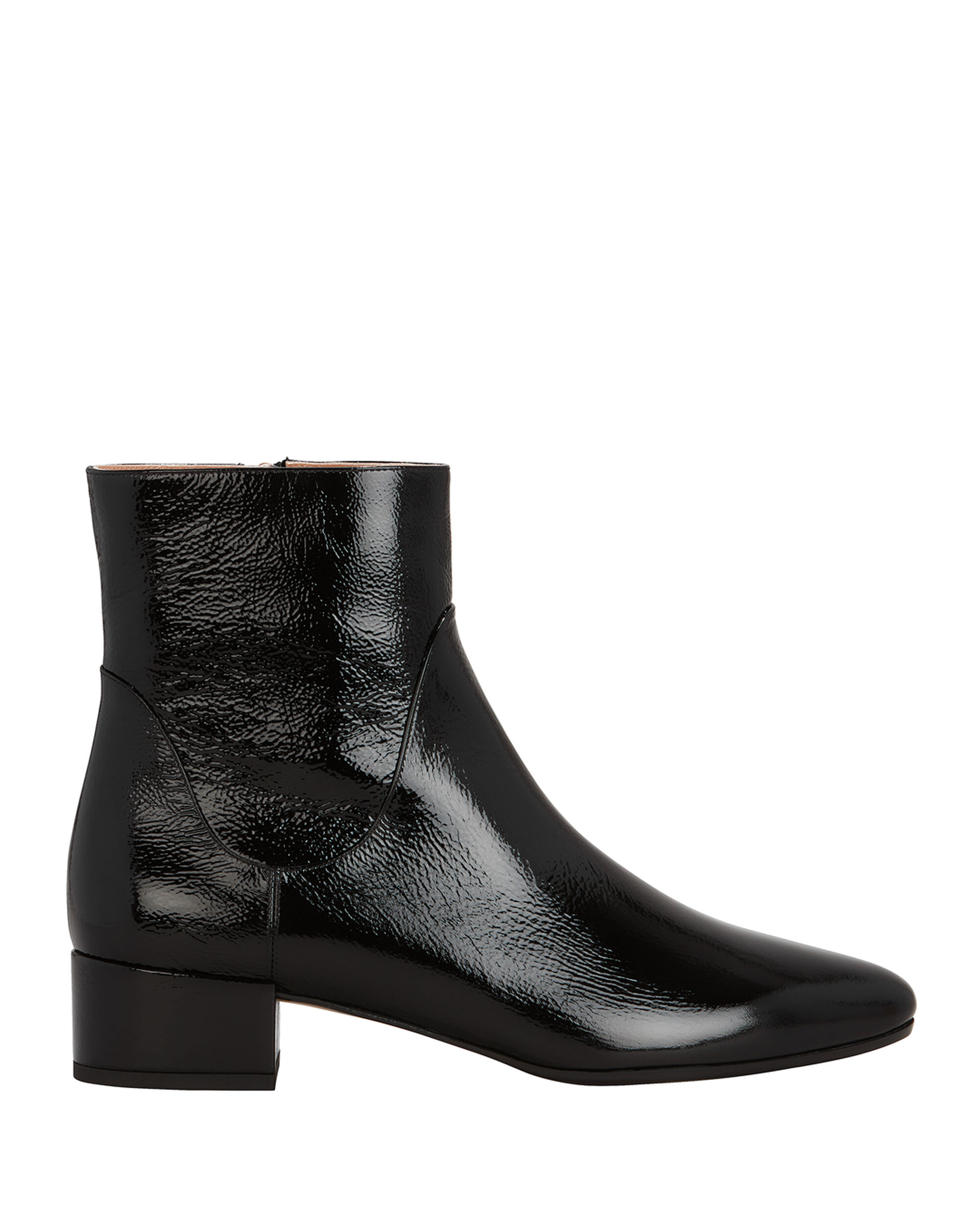 Patent Leather Boots, BLACK, hi-res