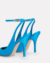 Venus Satin Pumps, BLUE-MED, hi-res