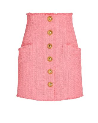 Tweed Mini Skirt, PINK, hi-res