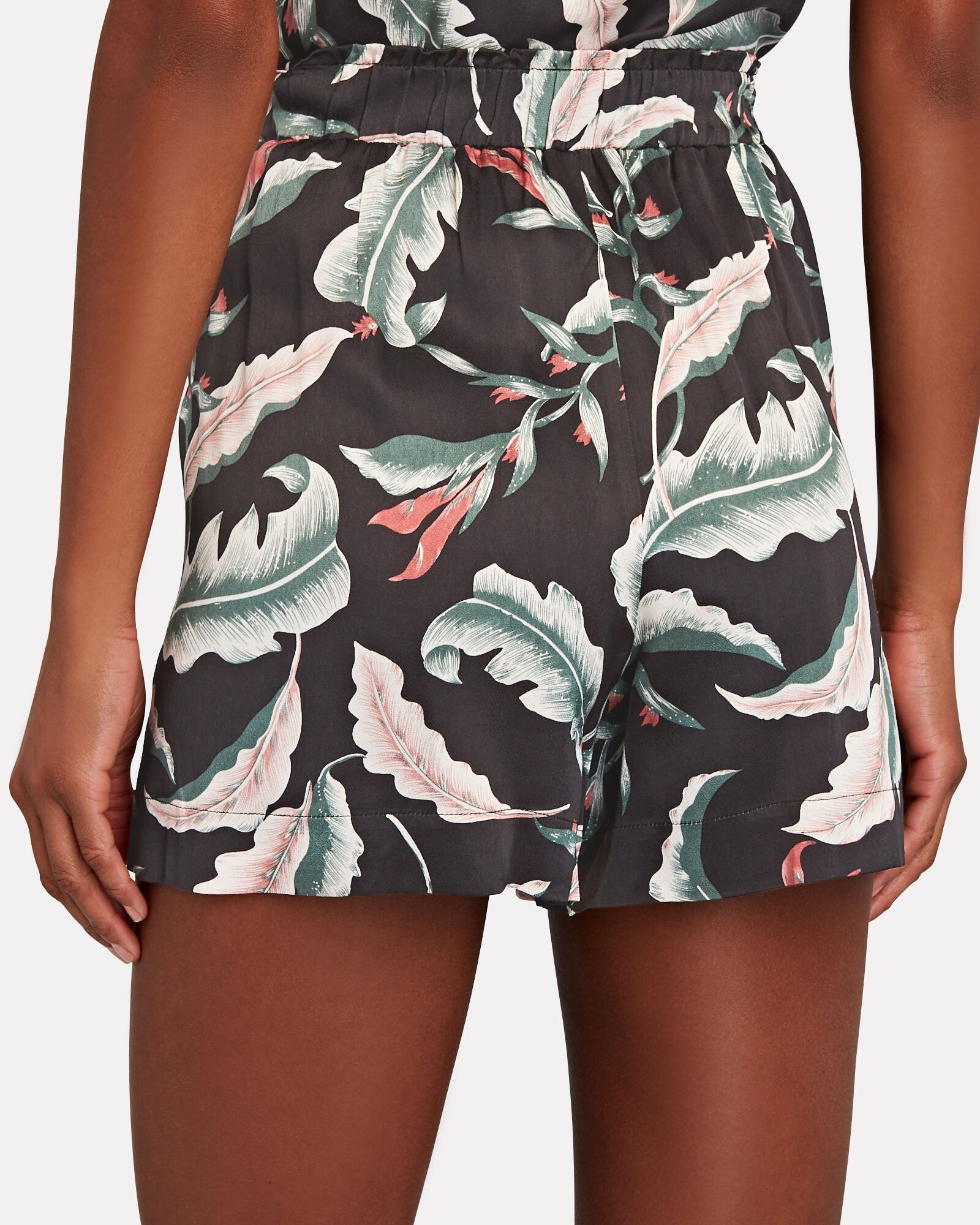 Leighton Printed Satin Shorts, MULTI, hi-res